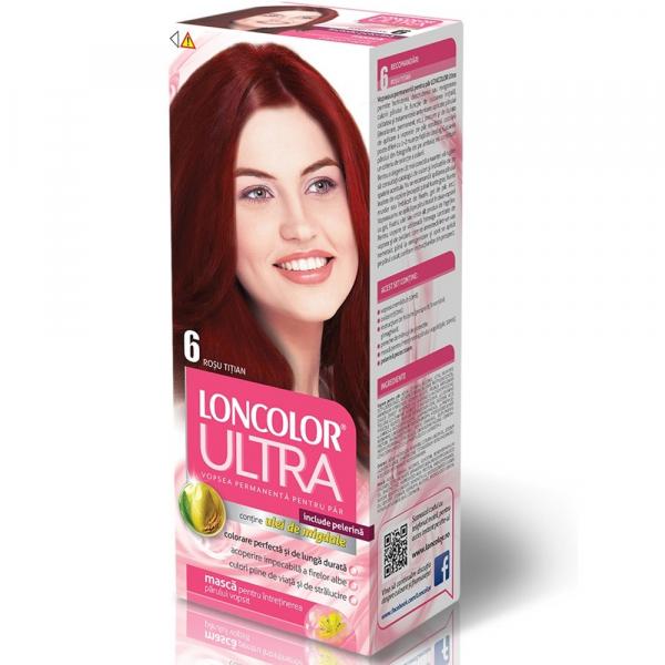 Vopsea Pentru Par Loncolor Ultra Rosu Titian Nr. 6, 100ml 0