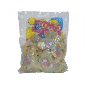 Baloane 4,5 g, transparente, confetti, 50 buc/set1