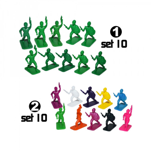 Figurine PP multicolore, 10 buc/set0