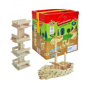 Joc constructii din lemn, 120 piese/cutie0