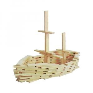 Joc constructii din lemn, 120 piese/cutie1