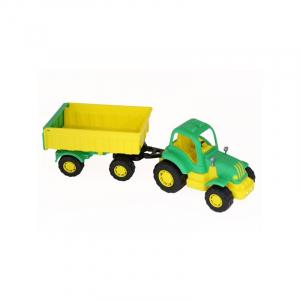 Tractor cu remorca - Hardy, 44x13x14 cm, Polesie0