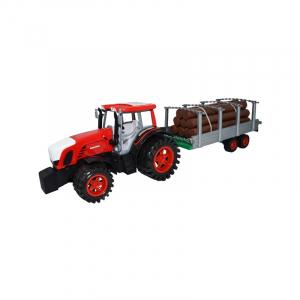 Tractor cu remorca si lemne, 77 cm0
