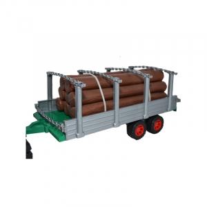Tractor cu remorca si lemne, 77 cm2