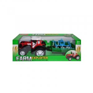 Tractor cu remorca si utilaj, 51 cm2