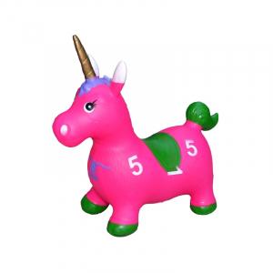 Unicorn din cauciuc, gonflabil, lumina si muzica3