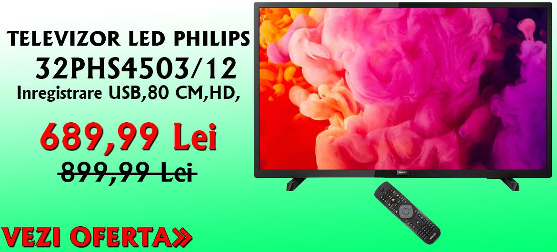 TELEVIZOR LED PHILIPS, 80 CM, 32PHS4503/12, HD