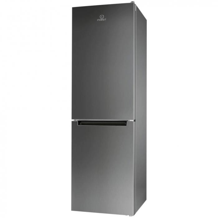 Combina frigorifica Indesit XIT8 T1E X, 320 l, Clasa A+, No Frost, H 189 cm, Inox 0