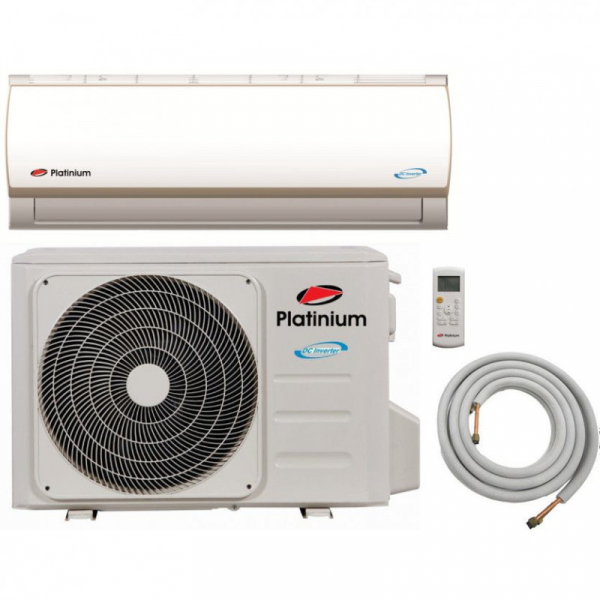 Aparat de aer conditionat Platinium, PF-12DC, Inverter, 12000 BTU, Kit de instalare (3m teava izolata), Clasa A++, Control activ de energie, Golden Fin, silentios 0