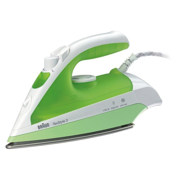 Fier de calcat BRAUN TexStyle 3 TS330C, Ceramica, 110g/min, 2000W, alb-verde 0
