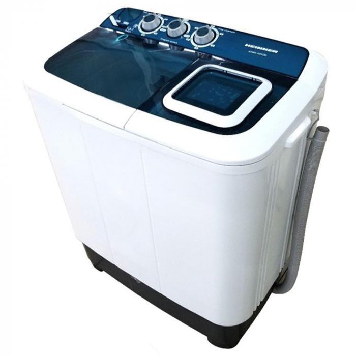 Masina de spalat rufe semiautomata Heinner HSWM-AD65BL,6.5 Kg, 4.6 Kg, Alb/Albastru 0