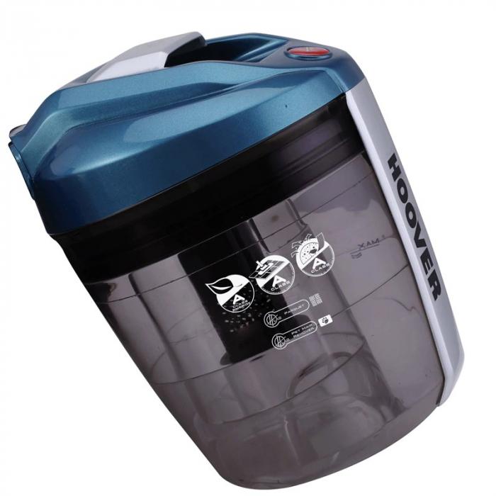 Aspirator fara sac Hoover Breeze BR71BR30011, 700W, 2 L, Filtru Lavabil EPA, Roata Frontala Rotativa 360° , Negru / Albastru 2