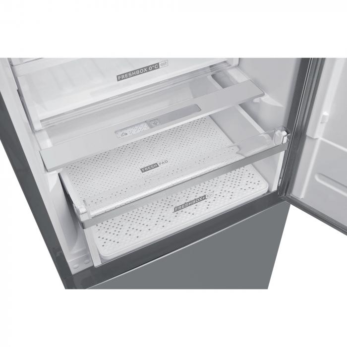 Combina frigorifica Whirlpool W9 821C OX, 318 l, Clasa A++, Dual No Frost, 6th Sense, Display Electronic Interior, H 189 cm, Inox 2