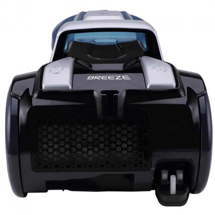 Aspirator fara sac Hoover Breeze BR71BR30011, 700W, 2 L, Filtru Lavabil EPA, Roata Frontala Rotativa 360° , Negru / Albastru 1