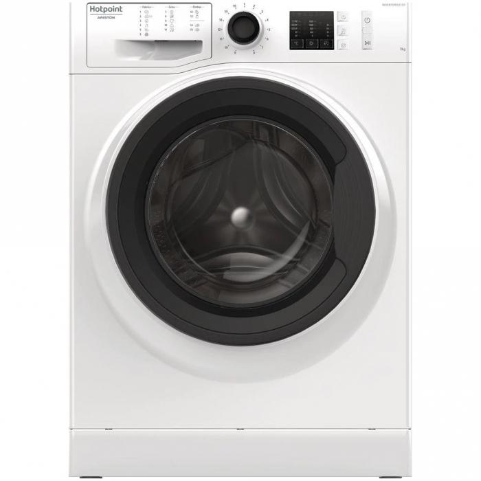 Masina de spalat rufe Hotpoint NM10 723 WK EU, 7 kg, 1200 RPM, Clasa A+++, FinalCare, Stop&Add, Alb 0