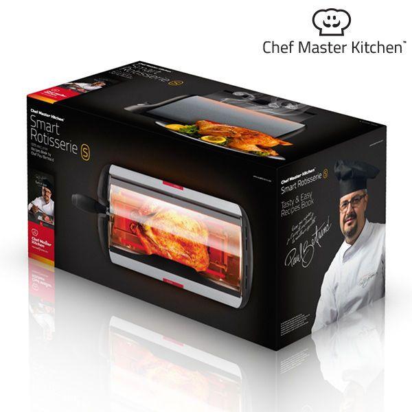 Cuptor portabil rotativ V0100400 Chef Master Kitchen, 600 W putere, Usa din sticla, Temperatura maxima 200 grade Celsius 2