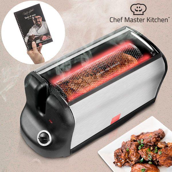 Cuptor portabil rotativ V0100400 Chef Master Kitchen, 600 W putere, Usa din sticla, Temperatura maxima 200 grade Celsius 1