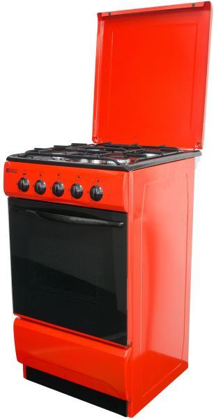 Aragaz Metalica 1685 F4 ROSU, 4 Arzatoare, Alimentare Gaz, Capacitate cuptor 46 l, Rosu [1]