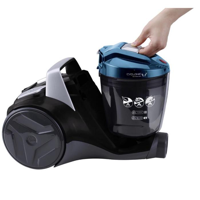 Aspirator fara sac Hoover Breeze BR71BR30011, 700W, 2 L, Filtru Lavabil EPA, Roata Frontala Rotativa 360° , Negru / Albastru 4