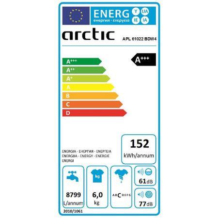 Masina de spalat rufe Arctic APL61022BDW4 ,1000 RPM, 6 kg, Clasa A+++ 2