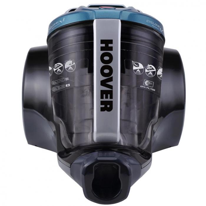 Aspirator fara sac Hoover Breeze BR71BR30011, 700W, 2 L, Filtru Lavabil EPA, Roata Frontala Rotativa 360° , Negru / Albastru 0