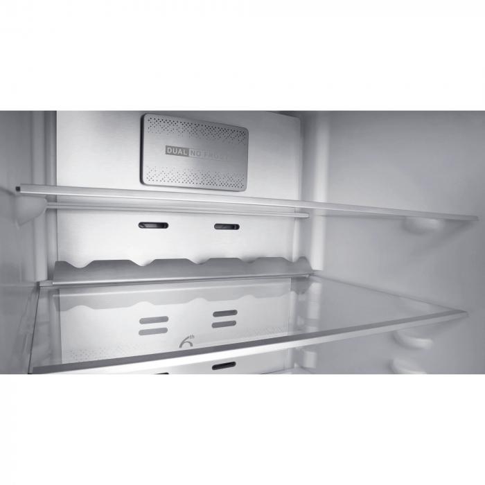 Combina frigorifica Whirlpool W9 821C OX, 318 l, Clasa A++, Dual No Frost, 6th Sense, Display Electronic Interior, H 189 cm, Inox 5