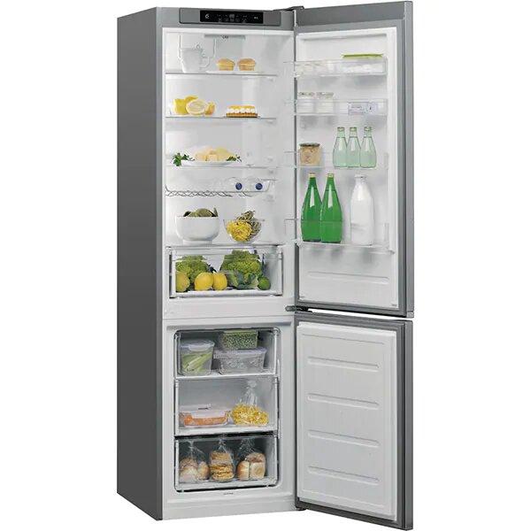 Combina frigorifica WHIRLPOOL W5 921C OX H, Direct Cool, 371 l, 201.1 cm, A+, inox 1