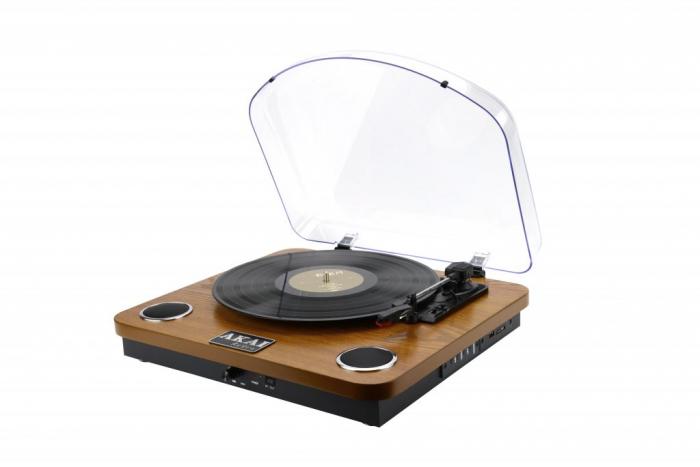 Pick-up AKAI ATT-11BT, stereo, difuzoare incorporate, Bluetooth, RCA, USB, SD Card 1