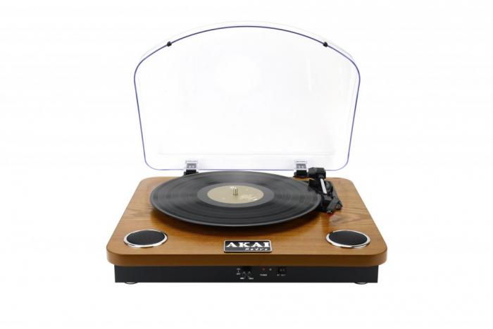 Pick-up AKAI ATT-11BT, stereo, difuzoare incorporate, Bluetooth, RCA, USB, SD Card 0