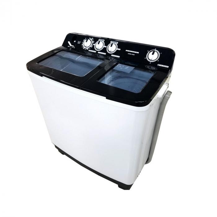 Heinner Masina de spalat rufe semiautomata HSWM-104BK, 10 Kg, 4.6 Kg, Alb/Negru 0