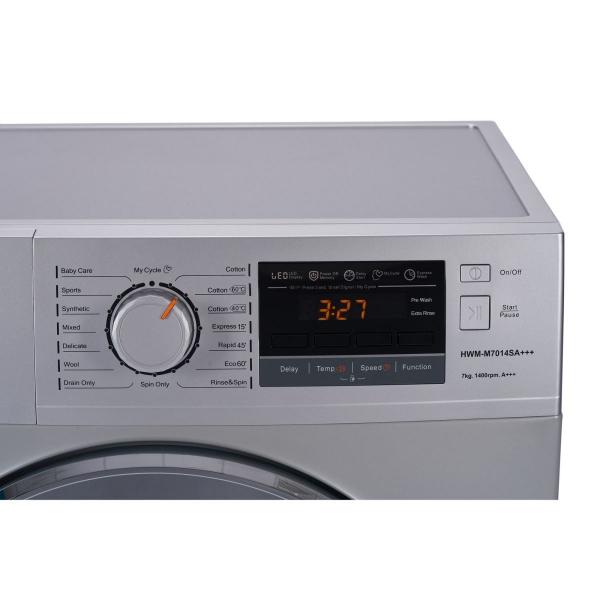 Masina de spalat Heinner HWM–M7014SA+++, 7 kg, 1400 RPM, Clasa A+++, Silver + usa cromata 3