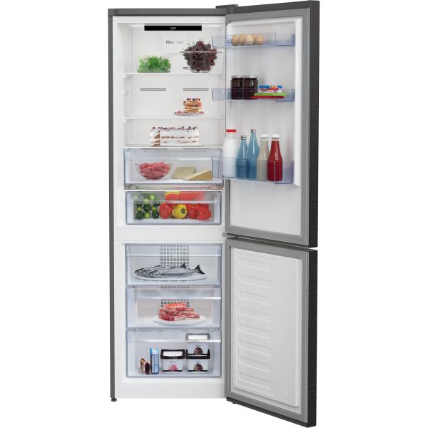 Combina frigorifica Beko RCNA366E30ZXR, 324 l, Clasa A++, NeoFrost, Compartiment 0°C, Kitchen Fit, Everfresh+ , 185.9 cm, Dark Inox [2]