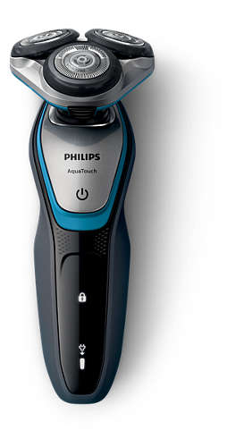 Aparat de ras Philips S5400/26, Lame Multiprecision, LED, Docking de curatare, Acumulator, 3 capete, Rotire in 5 directii, Trimmer, Negru 5