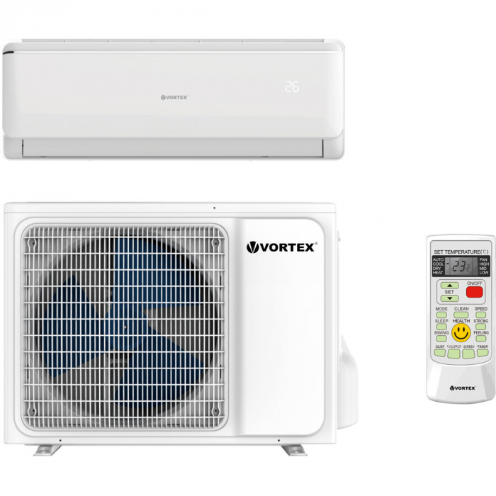 Aparat de aer conditionat Vortex VAI0920FFWR 9.000 BTU Clasa A++, kit instalare inclusv, R32 Inverter Alb 0