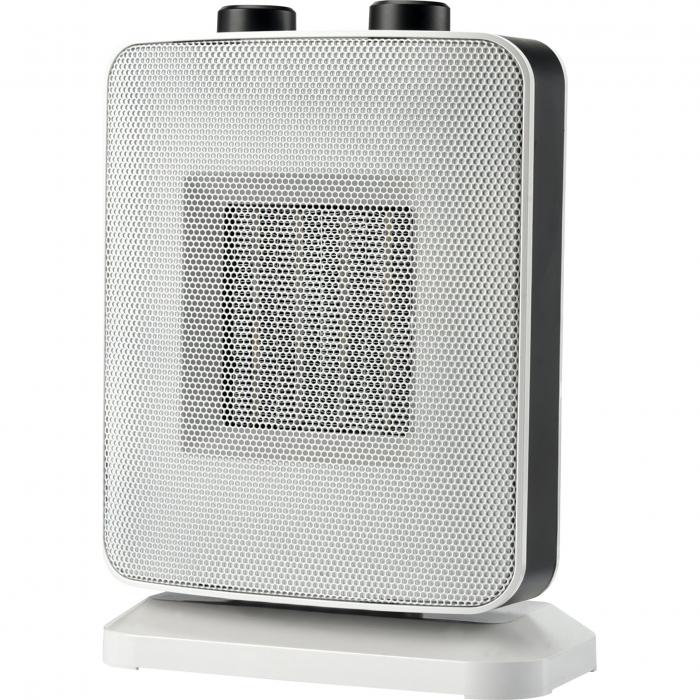 Aeroterma ceramica Heinner HCH-L1500WH, 1500 W, 2 trepte de putere, termostat reglabil, Alb 0