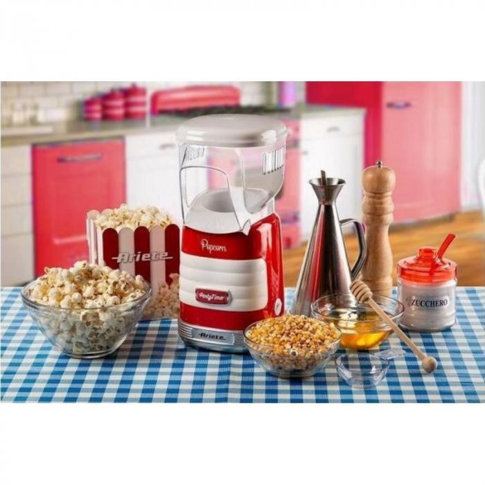 Aparat popcorn Party Time 2956 Ariete, 1100W, 60 gr, Rosu [1]