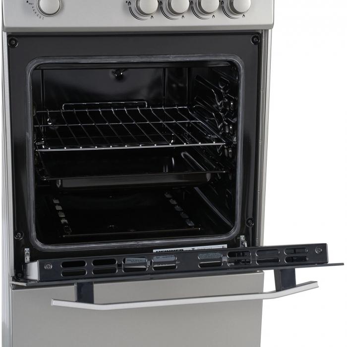 Aragaz Heinner HFSC-V50SL, 4 arzatoare, Gaz, Dispozitiv de siguranta plita/cuptor, Duze GPL incluse, 50 cm, Silver 2