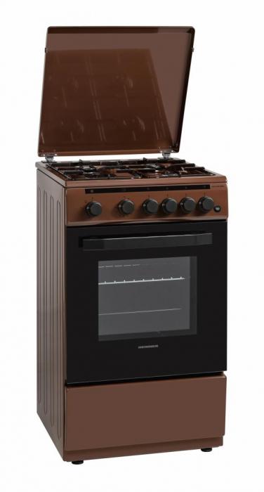Aragaz Heinner HFSC-V50LITBRW, 4 arzatoare, Gaz, Aprindere electrica, Timer, 50 cm, Maro [0]