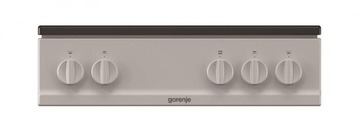 Aragaz pe gaz cu cuptor pe gaz Gorenje G5111SJ, Clasa energetica A, Gratar de inox, Gri metalic 4