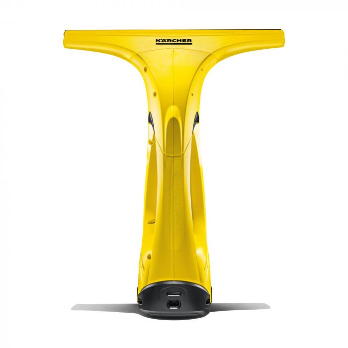 Aspirator de geamuri Karcher WV Easy Plus, 60 mp, 20 geamuri, Flacon de pulverizare 250 ml, Rezervor apa 100 ml, Galben [2]