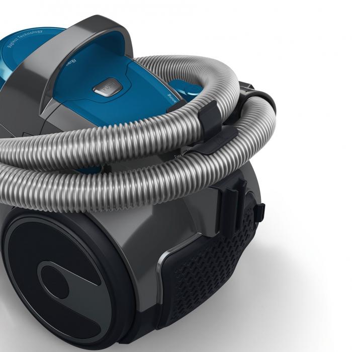 Aspirator fara sac Bosch BGS05A220, 700 W, 1.5 l, 3 A, Filtru igienic PureAir, Negru/Albastru 5