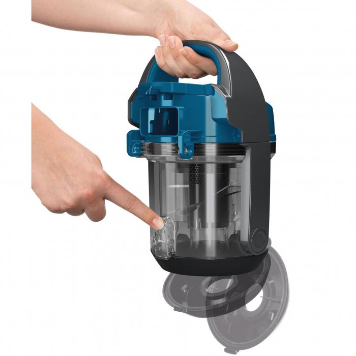 Aspirator fara sac Bosch BGS05A220, 700 W, 1.5 l, 3 A, Filtru igienic PureAir, Negru/Albastru 3