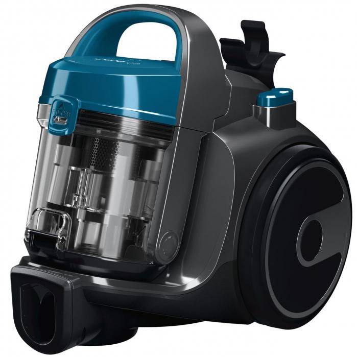 Aspirator fara sac Bosch BGS05A220, 700 W, 1.5 l, 3 A, Filtru igienic PureAir, Negru/Albastru 2