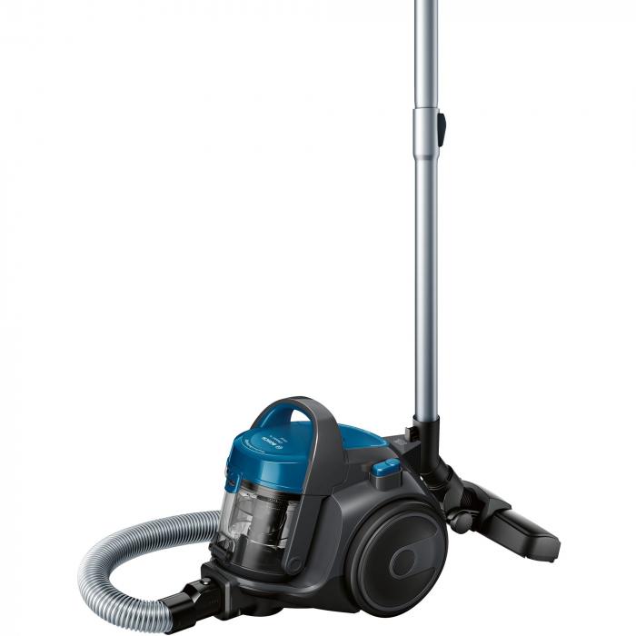 Aspirator fara sac Bosch BGS05A220, 700 W, 1.5 l, 3 A, Filtru igienic PureAir, Negru/Albastru 0