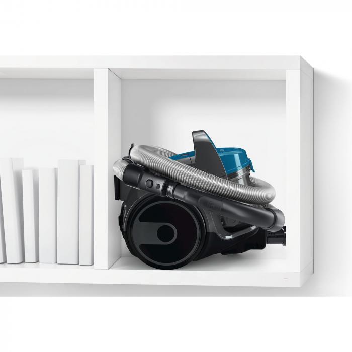 Aspirator fara sac Bosch BGS05A220, 700 W, 1.5 l, 3 A, Filtru igienic PureAir, Negru/Albastru 6
