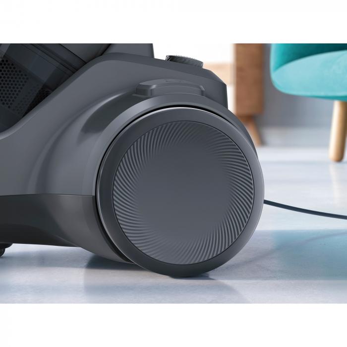 Aspirator fara sac Electrolux Ease C4 3A EC41-4T, 700 W, Clasa A, 1.8 L, Filtre lavabile, Perie parchet, Negru 9