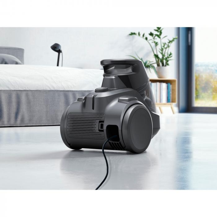 Aspirator fara sac Electrolux Ease C4 3A EC41-4T, 700 W, Clasa A, 1.8 L, Filtre lavabile, Perie parchet, Negru 10