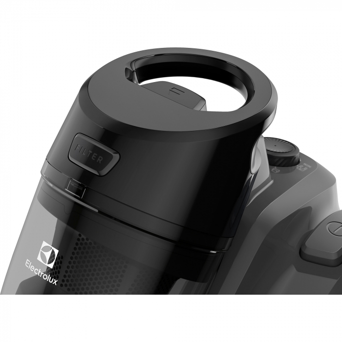 Aspirator fara sac Electrolux Ease C4 3A EC41-4T, 700 W, Clasa A, 1.8 L, Filtre lavabile, Perie parchet, Negru 3
