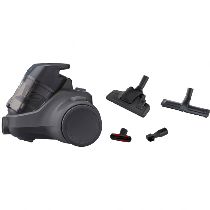 Aspirator fara sac Electrolux Ease C4 3A EC41-4T, 700 W, Clasa A, 1.8 L, Filtre lavabile, Perie parchet, Negru 1