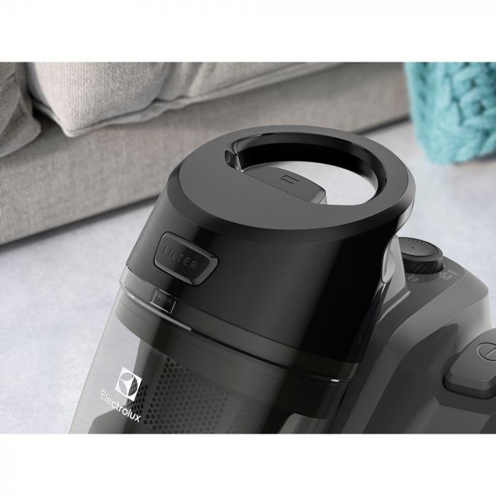 Aspirator fara sac Electrolux Ease C4 3A EC41-4T, 700 W, Clasa A, 1.8 L, Filtre lavabile, Perie parchet, Negru 7